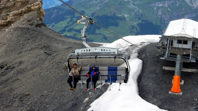 Titlis Ice Flyer chair lift