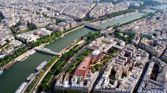 River Seine from Eiffel Tower