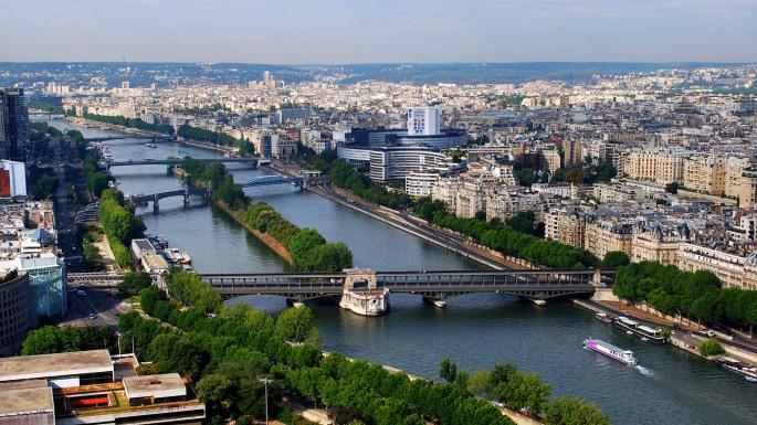 Seine River from Eiffel Tower