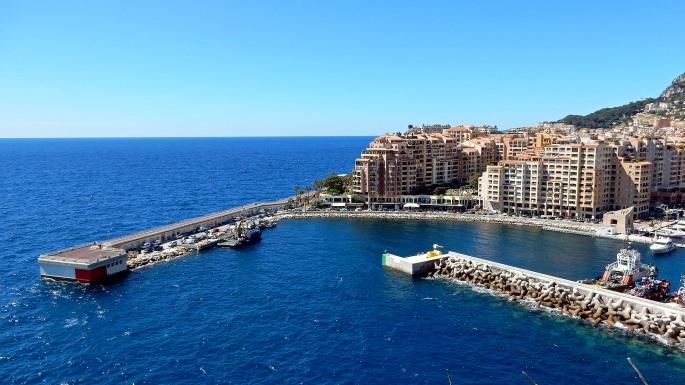 Monte Carlo from Saint Martin gardens, Monaco